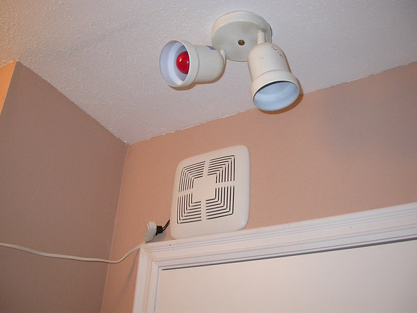 Safelight and vent fan.